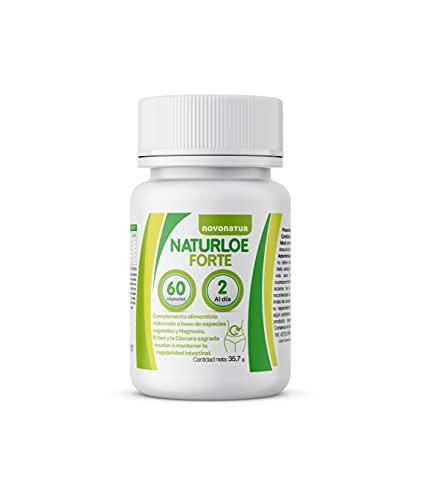 NATURLOE FORTE, regularidad intestinal con Cáscara sagrada, Sen, Hinojo, magnesio y Poleo menta ayuda a una buena digestión y a perder peso de manera natural, estómago deshinchado. NOVONATUR