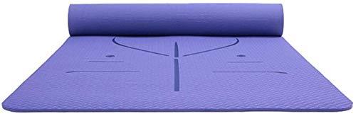 EIIDJFF Esterillas Yoga Antideslizante Sin Resbalones En Ambos Lados MultiPunto Que Estira El Gimnasio Perfecto For Hombres Y Mujeres (Color : Blue)