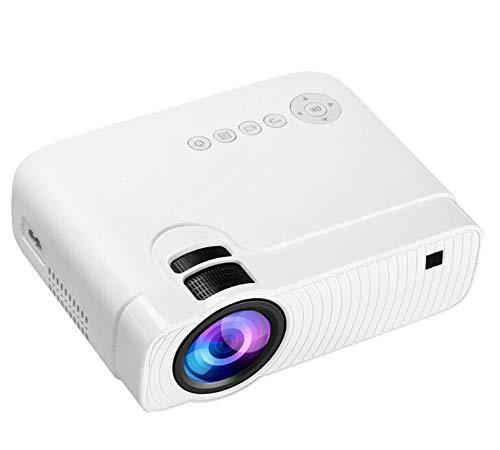 YZXZM GC333 proyector portátil Full HD 1080p, 180' Visualización y 50000 Horas Vida de la lámpara LED proyector de vídeo, Compatible con USB/HD/SD/AV/VGA para Cine en casa,Blanco