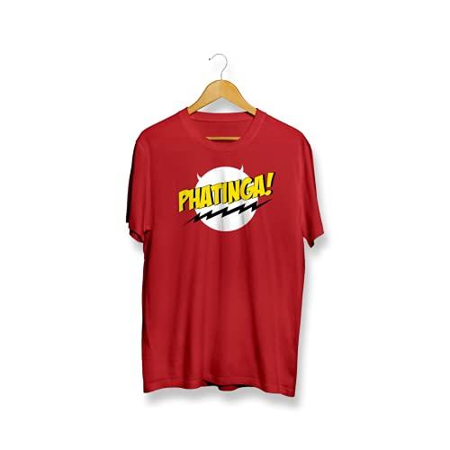 IRUVE Phatinga Unisex Cotton Regular Fit Printed Kannada T-Shirt (Red, Small)