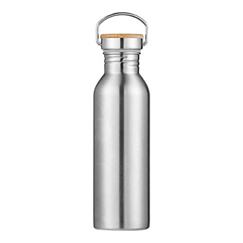 dkjawjcn Botellas de Acero Inoxidable para Agua 750 ml Portátil, para Camping de Viaje de Deportes al Aire Libre