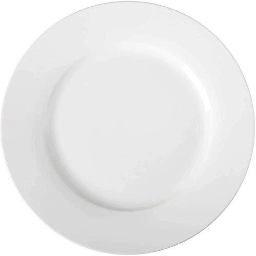 TREEECFCST Platos Vajilla Plato de Porcelana, Blanco Redondo Resistente al Desgaste Placas BPA del dinnerware de Cocina Comedor Reunión de la Familia (Talla : 8 Inch)