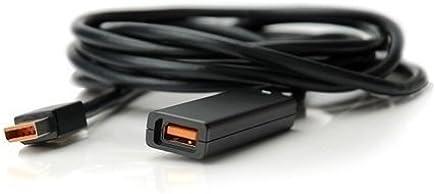 Invero - Cable alargador de 3 metros para Xbox 360 Kinect, color negro