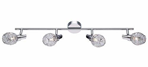 Obi 804691 Deckenleuchte Deckenlampe Strahler Leuchte Lampe Balken Chrom