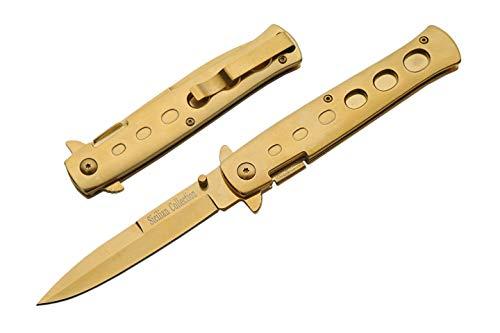 China Made - Klappmesser - Klingenlänge: 9.52 cm - Milano Gold