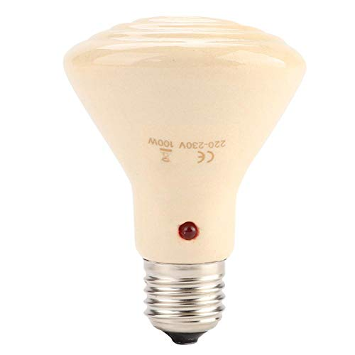 E27 Warmtelamp, 220-230 V keramische warmmelamp terrarium verwarmt lampen voor reptiele huisdier-amfibië, 100 W.