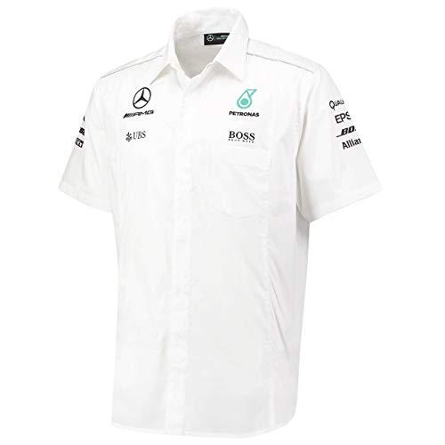 Mercedes AMG Petronas F1 Mens 2017 camicia bianca squadra bianco XS