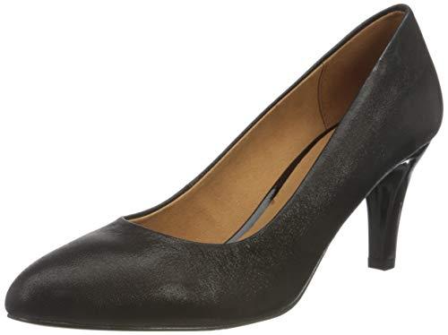 CAPRICE Damen 9-9-22405-25 Pumps, Black Glitter, 38.5 EU