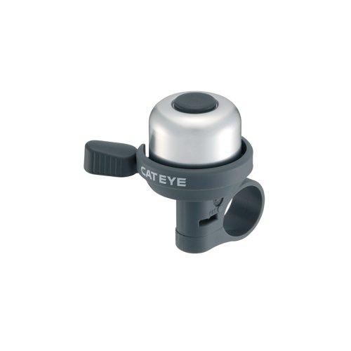 Cateye Pb-1000 Wind-Bell Fahrradklingel, Silber/Schwarz, Einheitsgröße