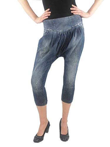 Miss Sixty Jeans Pantaloni alla turca Pantaloni Jo blu scuro Cerniera lampo NUOVO - cotone, blu, 100% cotone, Donna, 30