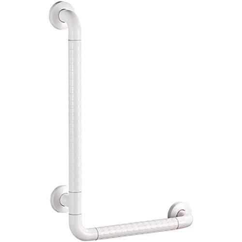 AQAWAS Dusche Wc Griff, Toilettenstützgestell Für ältere Adipositas Aus Edelstahl Aufstehhilfen rutschfest Wc-aufstehhilfe Toiletten-aufstehhilfe,White