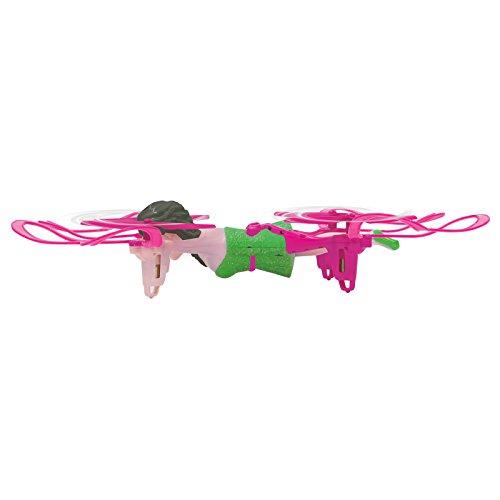 Jamara 422008 - Quadrella Drone Kompass Flyback Turbo Flip 2,4G - sehr einfach zu fliegen, selbststabilisierende Fluglage, stabiles Vollgehäuse, Rotorschutz, LED Beleuchtung mit Unterspannungswarnung
