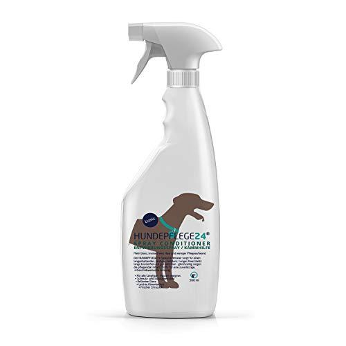 HUNDEPFLEGE24 Spray Conditioner Entfilzungsspray Hunde - Entwirrungsspray & Kämmhilfe mit pflegender Aloe Vera für leichtes Bürsten, Mehr Glanz & knotenfreies Haar - Fellpflege Hunde als Spray 500ml