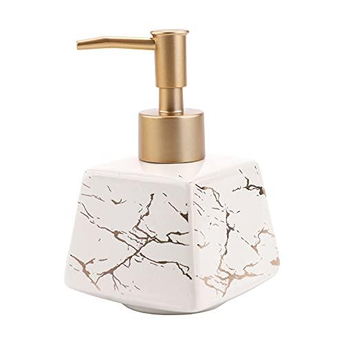 Dispensador de jabón de cerámica, botella de prensa champú para manos, dispensador...
