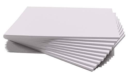 Chely Intermarket | 41C2A | Cartón pluma blanco A4 con espesor de 5mm/10 unidades/foam board rectangular para manualidades, foto o soporte (540-A4*10-0,45)