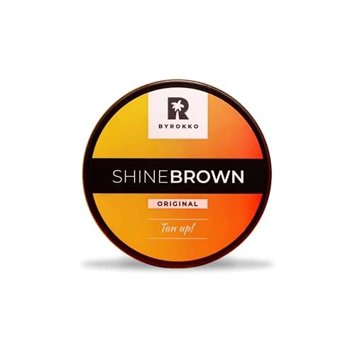 Byrokko SHINE BROWN - Crema per abbronzatura al pemio, 1 tubetto da 190 ml per lettino o uso esterno abbronzante.