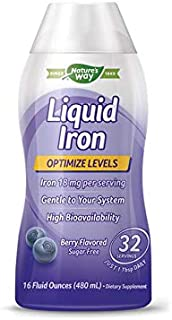 Liquid Mineral Supplement, Iron, Natural Berry, 16 Ounce