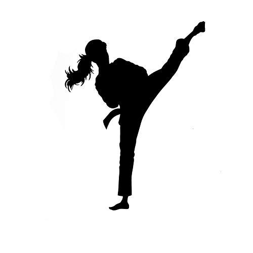 Karate Kick Martial Arts Schwarz, Autoaufkleber, Auto Fensteraufkleber, Auto Autoaufkleber, Für LKWs, Fenster, Wände, Laptops und andere Sachen, Fenster Aufkleber, Lustige Vinyl Autoaufkleber, Auto