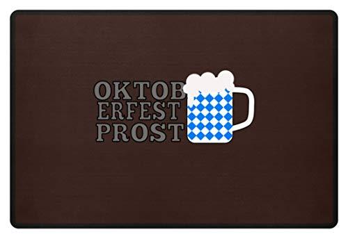Generic Oktoberfest Prost! Prosit! Oans, Zwoa, Drei! G'Suffa! München Bayern Festzelt Outfit Mass - Fußmatte