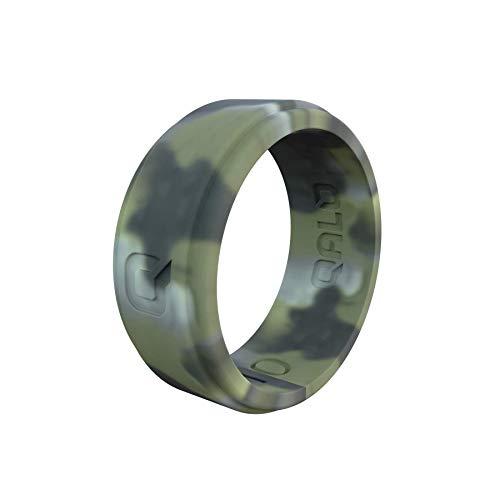 QALO Men's Brush Camo Step Edge Q2X Silicone Ring Size 10
