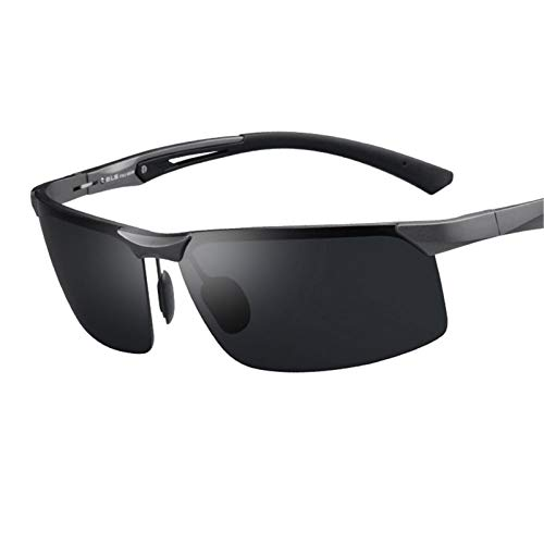 LDH Gafas De Sol para Hombres Polarizados, Gafas De Conducción Gafas De Pesca Deportes Senderismo HD Resina Lente Anti-UVA Y Anti-UVB Gafas De Sol para Hombre