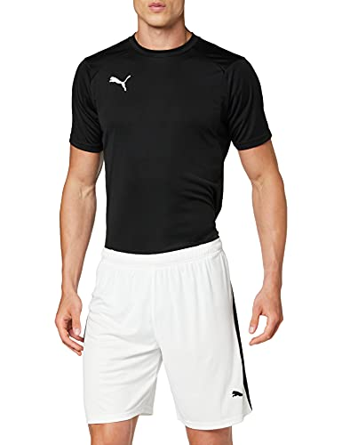 Puma Liga Shorts, Pantaloncini Uomo, Bianco (White/Black), M