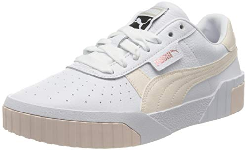 Puma Damen Cali WN's Low-Top Sneakers, Weiß White-Rosewater, 39 EU