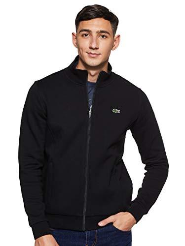 Lacoste Sport Herren SH7616 Reißverschluss Jacke, Schwarz (Noir), Medium (Herstellergröße: 4)
