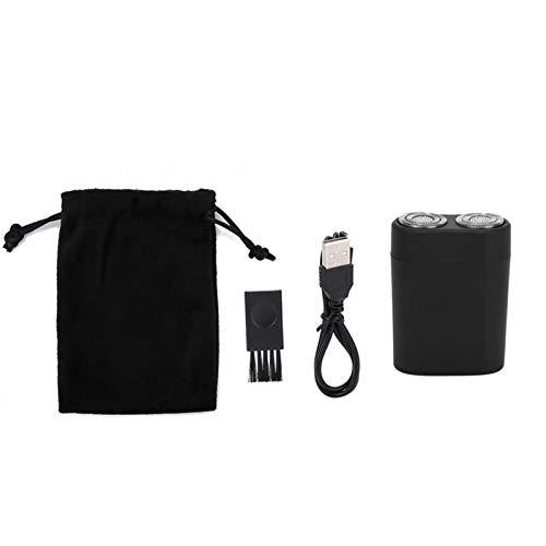 Afeitadora de barba recargable, Mini afeitadora de barba eléctrica USB inalámbrica, máquina cortadora de afeitar de acero inoxidable para hombres