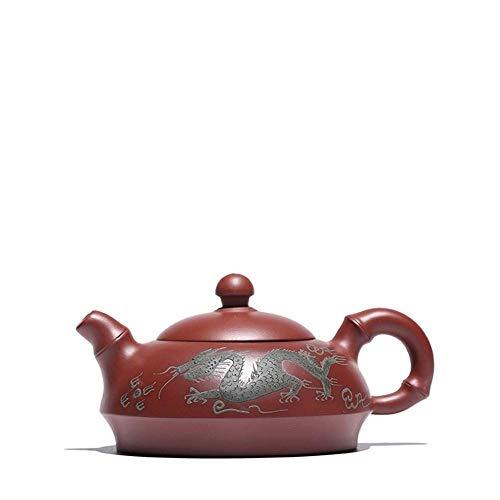 GUONING-L Tea Wang Long Painted teapot ore Dahongpao Gift Handmade Dragons Half Pot Teapot