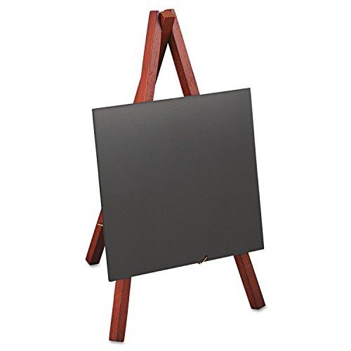 Deflect-o Minimkr Securit Chevalet de table avec cadre en acajou 12,7 x 12,7 cm