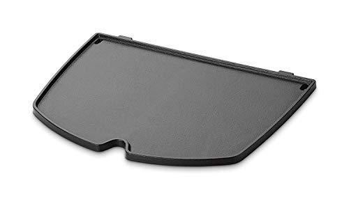 GFTIME 6559 Gusseisen Bratpfanne Grillplatte für Weber Q200, Q220, Q240, Q260, Q2000, Q2200, Q2400 Series Grill Modelle, 38,86 cm Grillrost Zubehör