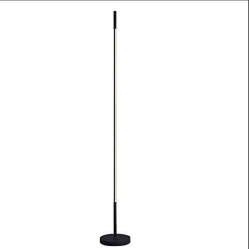 Lámpara De Pie Creativa Lámpara minimalista línea Plug-in interruptor de pie Negro metal vertical estándar de la lámpara for la sala de estar de noche dormitorio 55' Luz De Piso