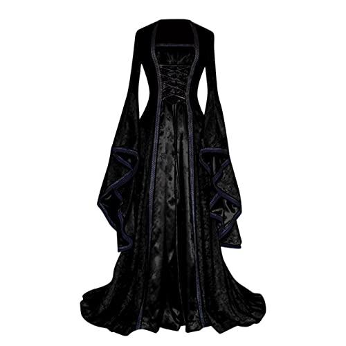 Modaworld carnevale vestiti da donna Medievale renaissance Costume Maniche lungo retrò abito da festa donna Fancy Cosplay Vestito
