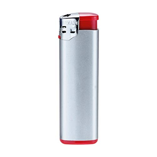 PureDay Elektr. Feuerzeug Silver - Rot