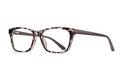 SKILEC Gafas Anti Luz Azul Gafas Ordenador Gafas Lectura Hombre Mujer Antifatiga Filtro Protección Azul UV Gafas Presbicia Hombre para PC, Gaming, Videojuegos, Tablet Lentes Transparentes (Leopardo)