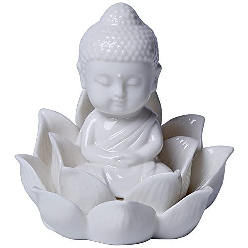 XDYFF Budas Decorativos Interior Estatua Meditación Figure Escultura Feng Shui para Hogar, Sala De Estar, Casa, Coche Decoración Adornos,A