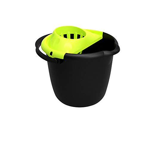 ORYX 5476000 Cubo Fregona con Escurridor Redondo 14 litros, Plastic