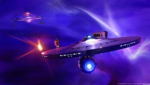 UOBSLBI 1000 Piezas Adulto Puzzle Star Trek Adultos Jugar Juego Educativo Educativo para Niños Cartel Pintura Al Óleo Decoración Regalo Diy75*50Cm
