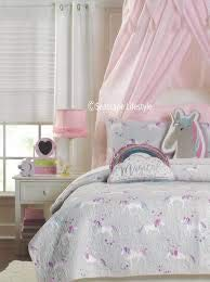 Unicorn Twin Cotton Quilt 68IN X 86IN by Nicole Miller Home Kids