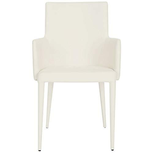 Safavieh Home Collection Summerset Mid-Century Moderner Sessel, Weiß Modern weiß