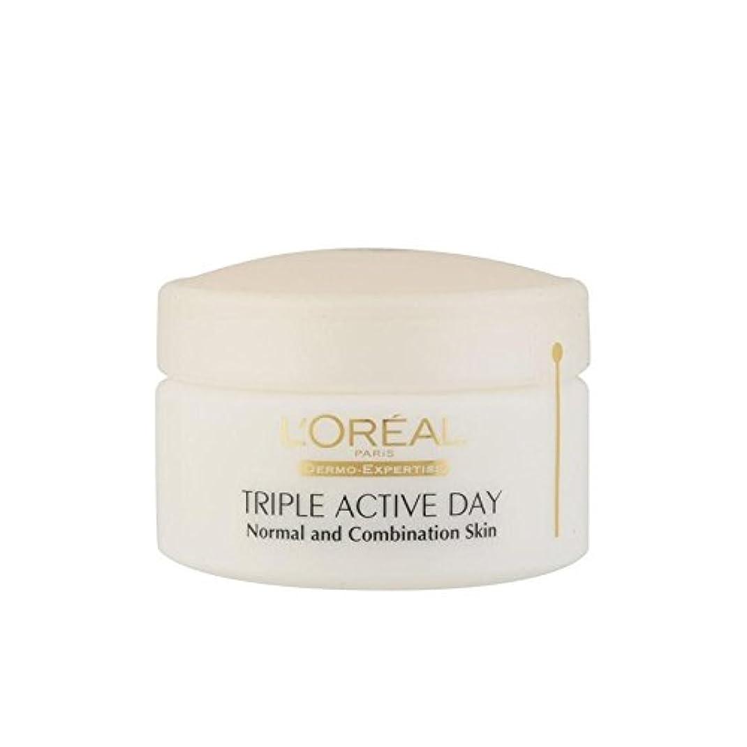 L'Oreal Paris Dermo Expertise Triple Active Multi-Protection Day Moistriser - Normal / Combination (50ml) - ロレアルパリ?ダーモ専門知識トリプルアクティブマルチプロテクション日 - ノーマル/コンビネーション(50ミリリットル) [並行輸入品]