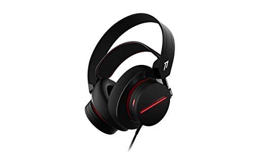 1More H1007 Spearhead Gaming Headset Over-Ear con cavo (7.1 Surround, driver da 54 mm, doppio microfono) per PC, Xbox, PS4, dispositivi mobili, nero