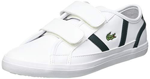 Lacoste Sideline 0721 1 Cuc Sneaker, Wht/Dk Grn, 32 EU