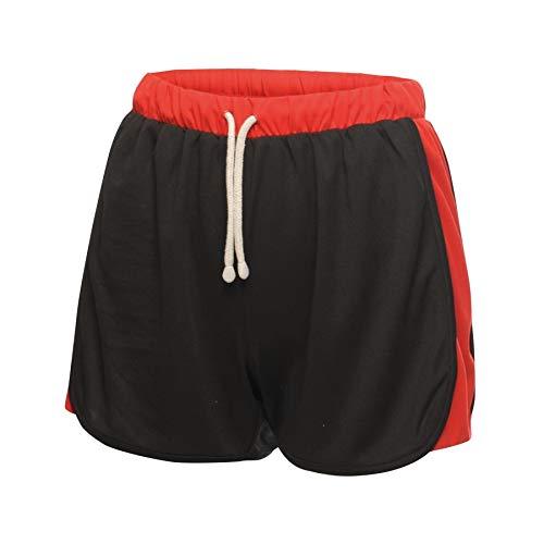 Regatta Short Sport Femme léger et Respirant Tokyo II, Black(Classic Red), FR : M (Taille Fabricant : 14)