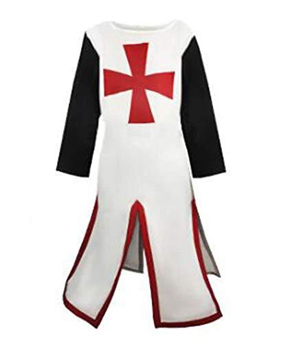 Worclub Traje de túnica vikinga Medieval para Hombre Camisa Larga Top Traje de Pirata