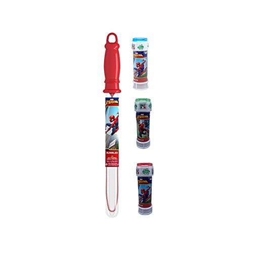 Kit Una Spada / Bacchetta Bolle di Sapone Piu 3 flaconi Spiderman / Frozen (Spiderman)