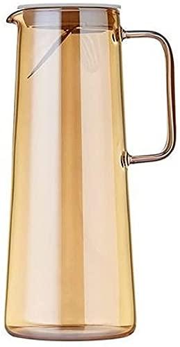 HLD Botellas de agua 1.8L Botella de agua fría Se puede calentar el hogar Copa de agua fresca Conjunto de vidrio Botella de cristal Botella de jugos de gran capacidad para bebidas de gran capacidad Bo