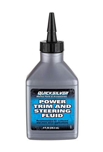 Quicksilver 858074Q01 Power Trim and Steering Fluid - 8 Ounce Bottle