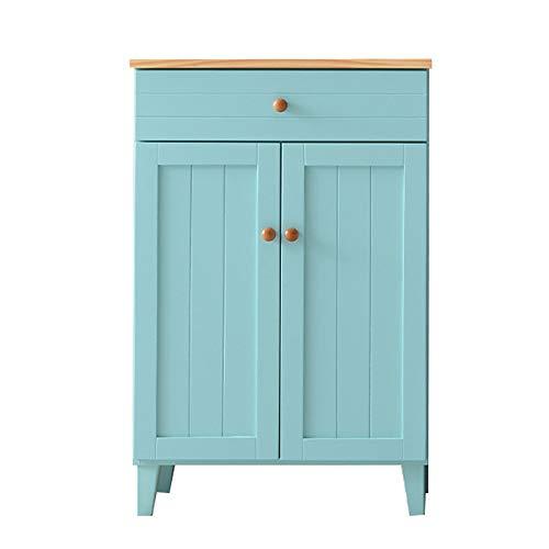 VDSON Buffet Puerta de Entrada Puertas de gabinete de Almacenamiento Buffet Gabinete de Consola de Servidor Tabla Mueble Bar Living Comedor Armario Decorativo (Color : Blue, Size : 60x40x90cm)